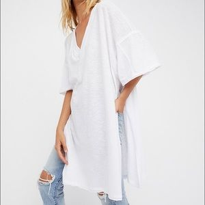 Free People WTF City Slicker Tee White XS