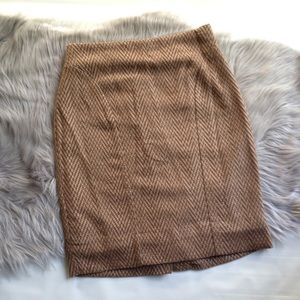 Maeve Kasui pencil skirt brown lined textured 2