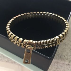 Jewelmint Bronze Zip Bracelet