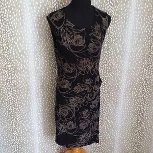 Anthropologie Leifsdottir Black Floral Print Dress