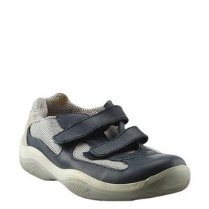 Prada Canvas & Leather Sneakers, Sz 6.5 (135390)