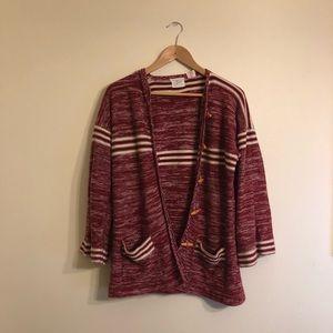Vintage Red Stripe Cardigan ♥️