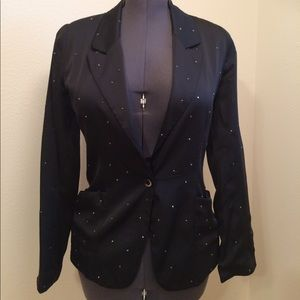 Allen B. Black Blazer Small with Rhinestones