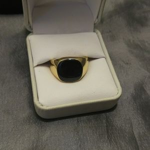 18kt Gold Over Steel ring sz 10