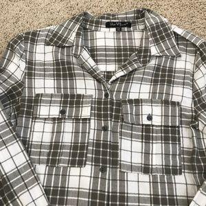 New listing! Long green plaid tunic