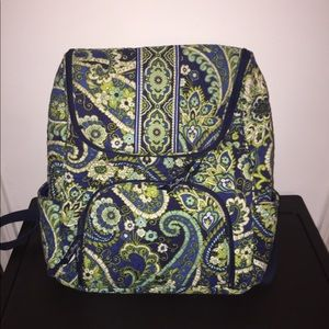 Blue and green Vera Bradley backpack