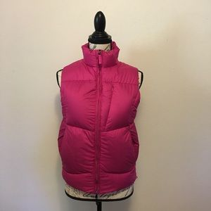 Ralph Lauren Pink Down Vest Flaw Sz Small