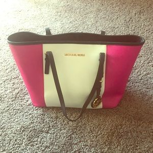 Authentic Michael Kors Two Color Tote