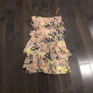 BCBG floral ruffle dress