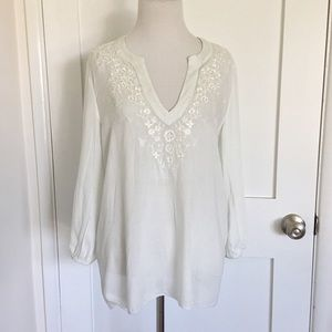 Soft Joie Tunic Embroidered Top