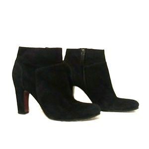 SAM EDELMAN Black Suede Salina Ankle Boots Sz 8