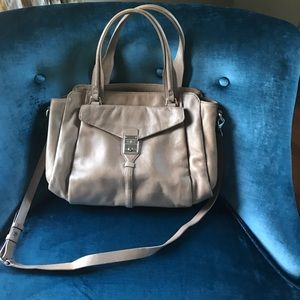 Cole Haan Leather Purse with strap -Taupe color