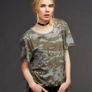 Free People We the Free Army Tee S