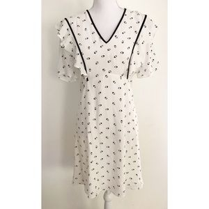 NWT ASOS Arrow Prints Ruffles Sleeves Dress