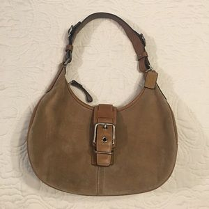 Coach bag style#7559 Suede & Leather BT - GUC