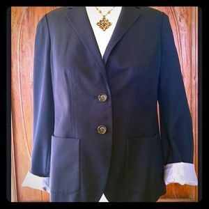 BANANA REPUBLIC WOMAN NAVY BLAZER JACKET