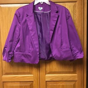 Worthington cropped purple Blazer XL