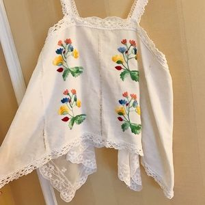 VINTAGE Embroidered Tank Top