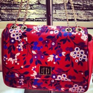 Emma & Sophia Printed Pebble Leather Rosy Bag