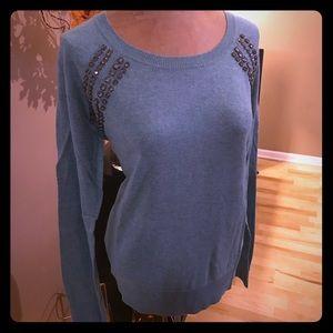 NWOT! Gorgeous embellished sweater