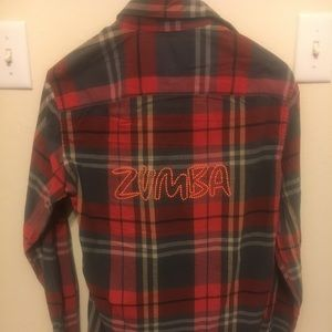 zumab flannel customized size XS American eagle