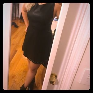 Forever 21 Faux Leather Black Dress