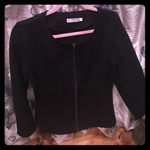 Solitaire Black Suede jacket