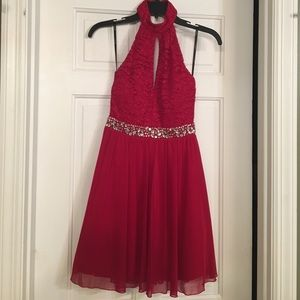 Nordstrom Homecoming/Holiday sz3 red halter dress