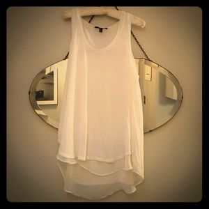 Banana Republic white tunic top