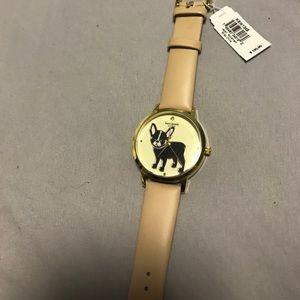 Brand new Kate Spade beige and gold Frenchie watch