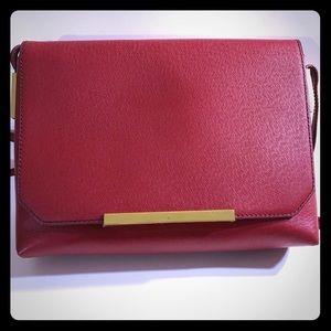 J. Crew red leather crossbody
