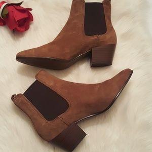 NWOB Sam Edelman brown leather suede ankle booties
