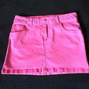 H&M Hot pink denim mini.