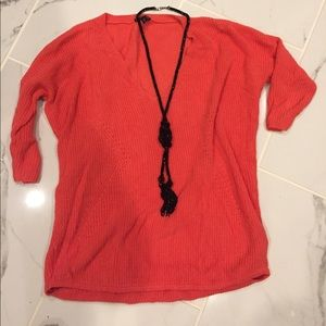 XS coral Express sweater
