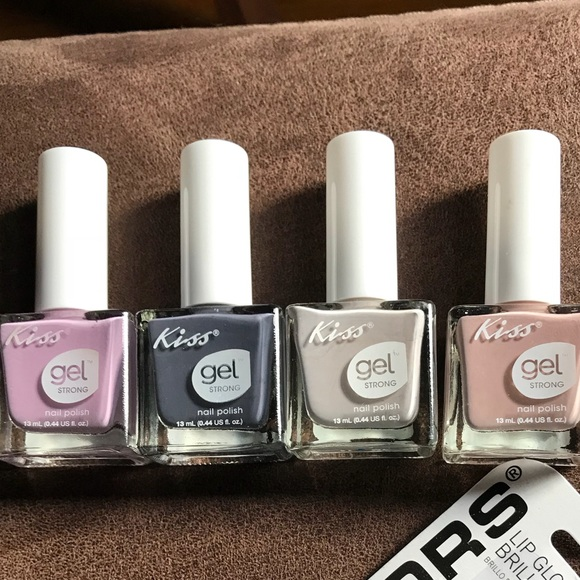 Other | Kiss Gel Strong Nail Polish Set Of Four | Poshmark