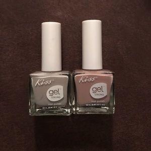 Kiss gel string nail polish set of two