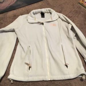 White north face jacket