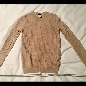 J.crew Tan Cable Knit/ Cashmere Sweater