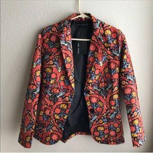 Zara floral blazer