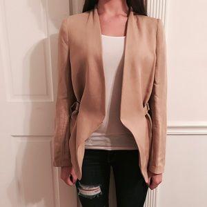 Light brown Zara blazer with adjustable sides
