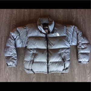 The North Face Puffer Grey Jacket 700 Goose Down