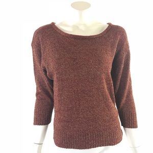 Sparkle Fade Sweater Size Small Dolman Tan Red UO