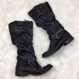 🎃White Mountain Womens Black Saddle Boots