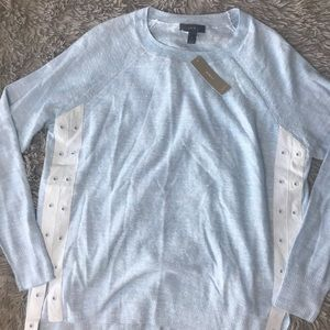 J Crew Long Sleeve Blue Sweater New wool and linen