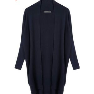 Sweaters - navy blue open cardigan