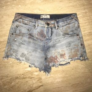 Free people cut up shorts