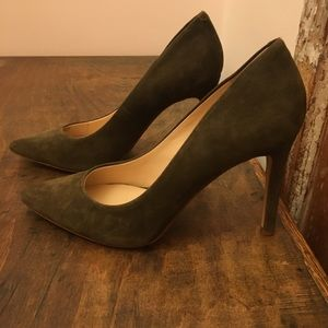 Banana Republic Suede Pointed Toe Heels