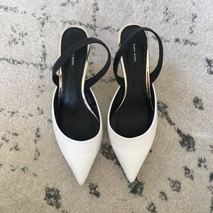 The Perfect White Pointed Heel