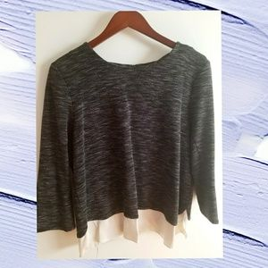 3/4 Length Layered Blouse