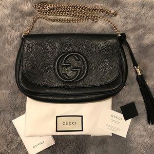 Gucci Soho Black Chain Shoulder Crossbody Bag